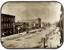 1860s photo Front Street lookin toward Putnam Street